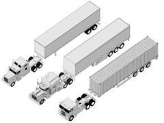 Semi-truck set Piirros