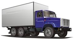 Delivery Heavy Truck - stock illustration