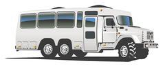 All terrain bus Stock Illustration