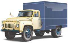 Retro lorry isolated Stock Illustration