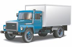 Cargo truck isolated Stock Illustration