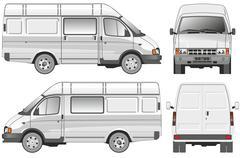 delivery / cargo / passenger van - stock illustration
