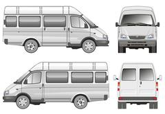 Mini bus Stock Illustration