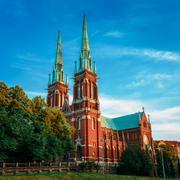St. Johns Church. Johannes Church -  Famous Landmark In Helsinki - stock photo