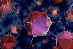 3D render virus cells. - stock illustration