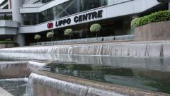 Lippo Centre is a skyscraper, Hong Kong Stock Footage