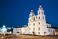 The Cathedral Of Holy Spirit In Minsk - The Famous Main Orthodox - stock photo