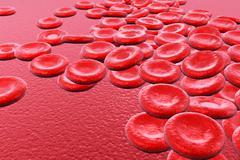 3d render red blood cells background. Stock Illustration