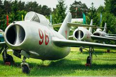 The Mikoyan-Gurevich MiG-15 is a Russian Soviet high-subsonic fi - stock photo