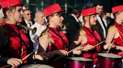 Festival of brass and pop music Stock Footage