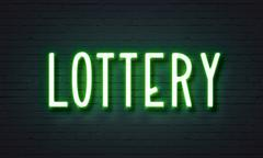 Lottery neon sign Piirros