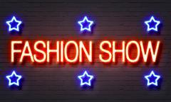 Fashion show neon sign Piirros