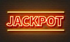 Jackpot neon sign - stock illustration
