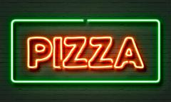 Pizza neon sign Stock Illustration