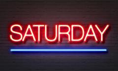 Saturday neon sign Stock Illustration