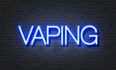 Vaping neon sign Stock Illustration