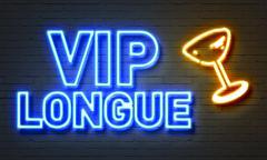 VIP longue neon sign Stock Illustration