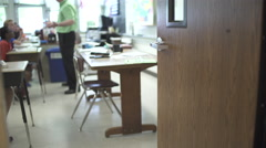 Students working in classroom (12 of 17) Stock Footage