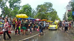 Chiang Mai Songkran festival Stock Footage