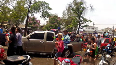 Chiang Mai Songkran festival3 Stock Footage