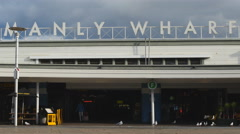 Manly Wharf entrance in Sydney 4K Stock Footage