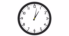 Typical Wall Clock time lapse Stock Footage