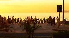 Morning in Nha Trang sea view Stock Footage