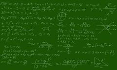 Blackboard with equations Stock Illustration