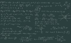 Blackboard with equations Stock Illustration