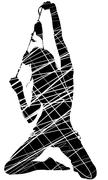 Scrawled silhouette sexy women - stock illustration