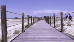 Algarve - Armona Coast Beach Walkway Stock Footage