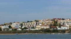 4K Portugal Algarve Ferragudo fishing village Stock Footage