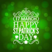 Patrick day sign design background Stock Illustration