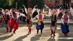 Ukrainian folk dances. Folklore. Gopak Stock Footage