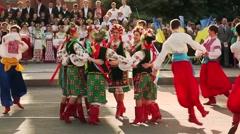 Ukrainian folk dances. Folklore. Gopak - stock footage