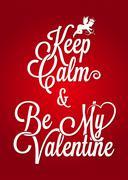 valentines day vintage lettering card background - stock illustration