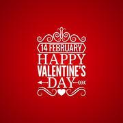 Valentines day vintage design background Stock Illustration