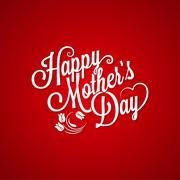 Mothers day vintage lettering background Stock Illustration