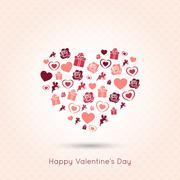 Stock Illustration of valentines day heart seamless design background