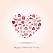 valentines day heart seamless design background - stock illustration