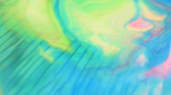 Drops of paints in the movement - stock footage