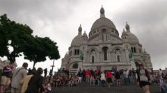 Basilika Sacre-Cur de Montmartre Stock Footage