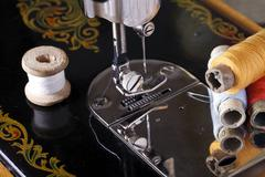 Vintage the sewing machine Stock Photos