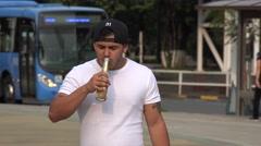 Man. Alcoholic, Alcoholism Stock Footage