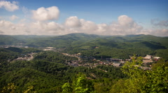 Stock Video Footage of Appalachian Mountain Time Lapse of Boone, NC
