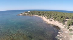 Panorama View of a Mediterranean Bay - Aerial Flight Stock Footage