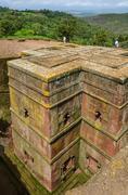 Stock Photo of The church of Saint George, Lalibela, Ethiopia