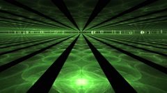 Internet Concept, Green Rays, Fantasy Horizon Stock Footage