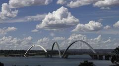 Time Lapse of the JK bridge in Brasilia  DF,capital of Brazil Stock Footage