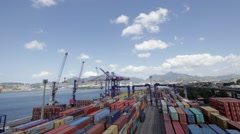 Motion Time Lapse  of port in Rio de Janeiro Stock Footage